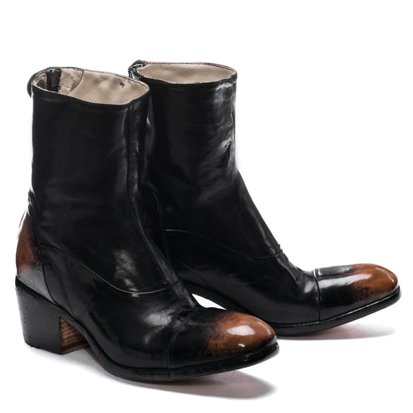 EVITA 14004, Ankle boots dyed buffalo leather, vista 2
