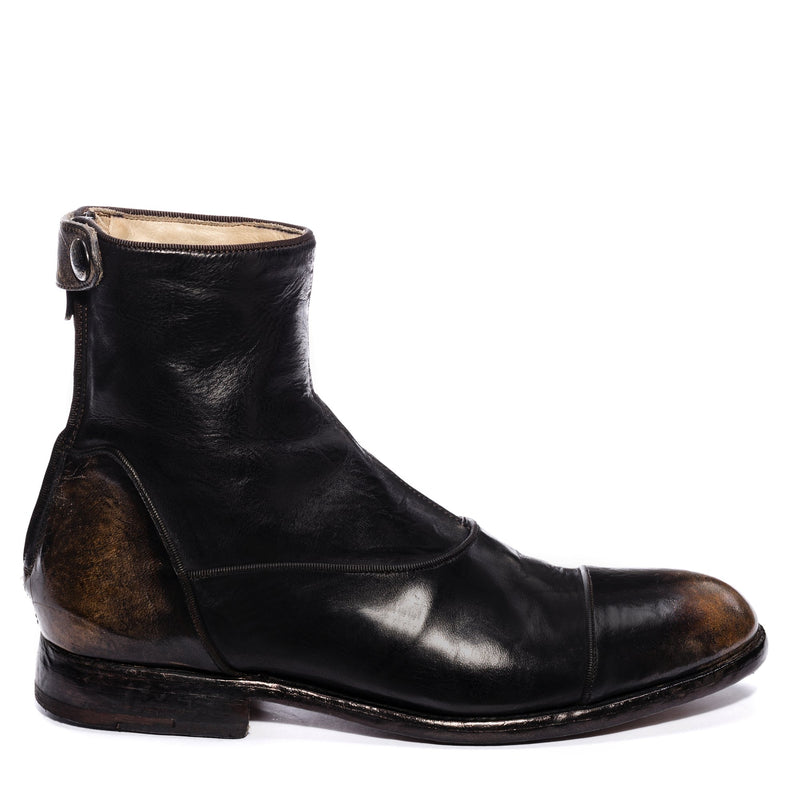 EVITA 502, Ankle boots washed and dyed buffalo leather , vista 1
