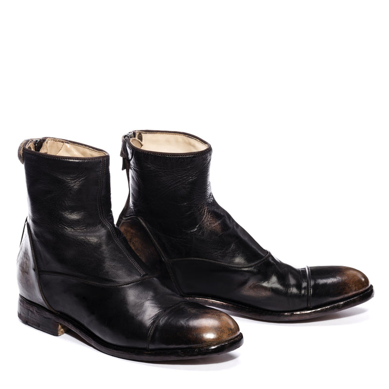 EVITA 502, Ankle boots washed and dyed buffalo leather , vista 2