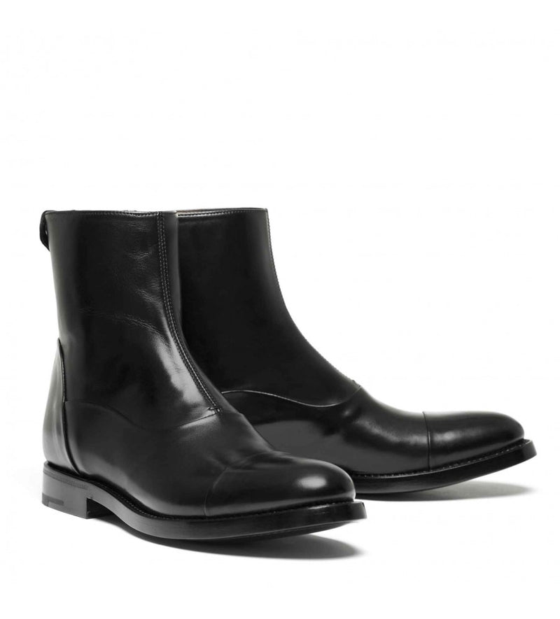 EVITA 509, Black calf Ankle boots, vista 3
