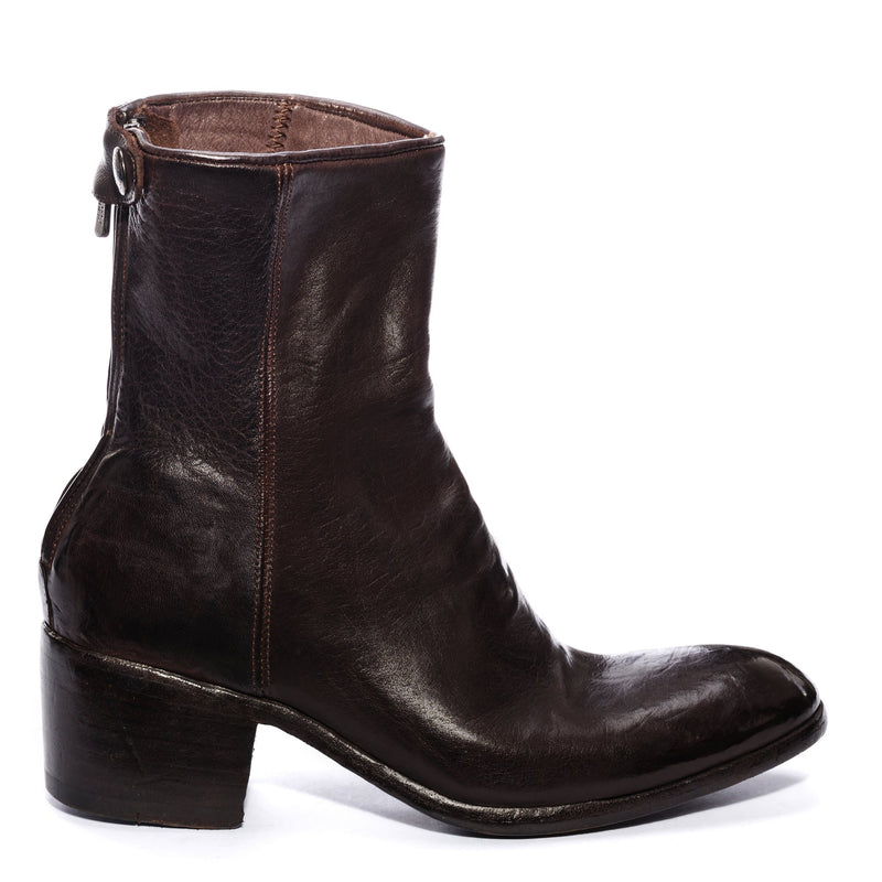 GIULIA 23017, Ankle boots washed and dyed buffalo leather , vista 1
