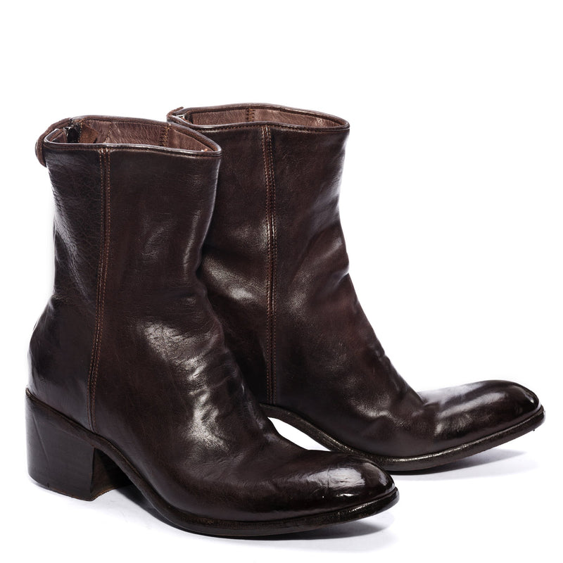 GIULIA 23017, Ankle boots washed and dyed buffalo leather , vista 2