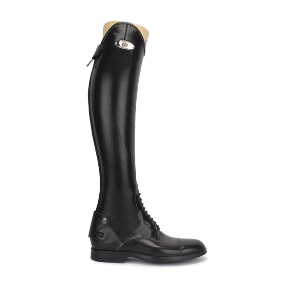 LEONARDO<br>Standard riding boot in black calfskin [40 - 46]