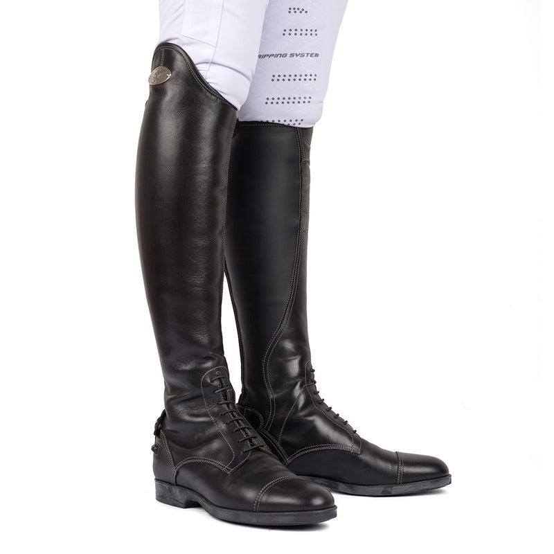 LEONARDO<br>Standard riding boot in black calfskin [34 - 39]