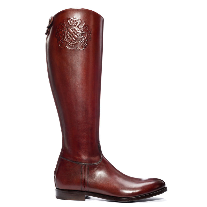 MAYA 14040, Boots cuoio calf leather, vista 1
