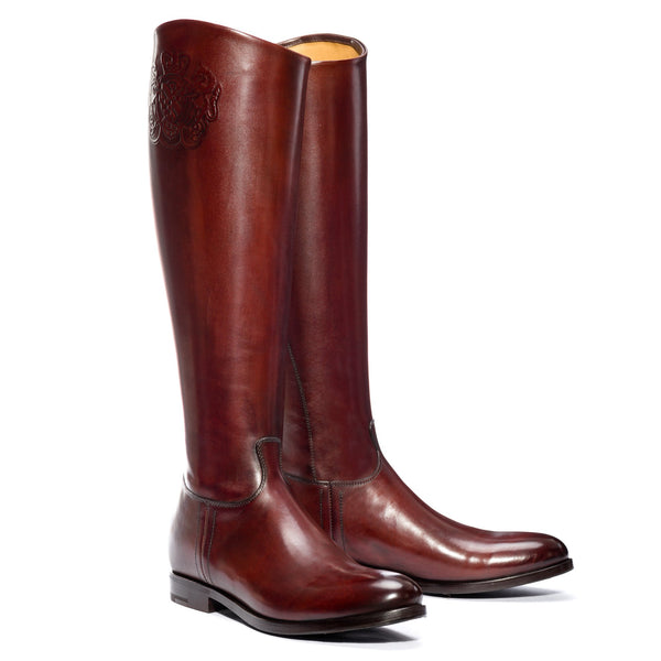 MAYA 14040, Boots cuoio calf leather, vista 2