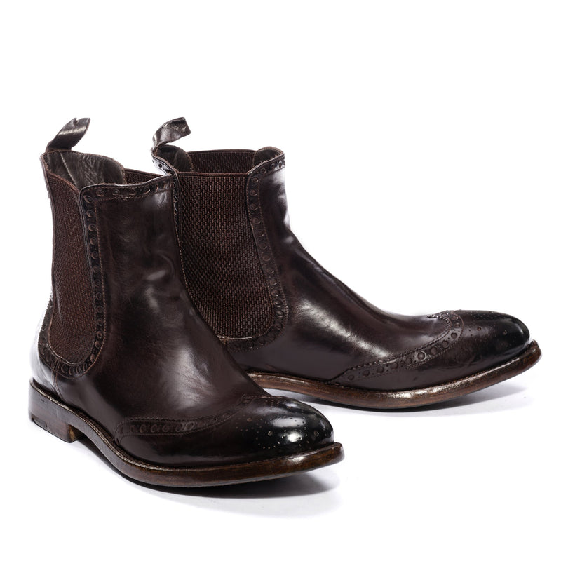 MORRIS 30011, Chelsea boots washed and dyed buffalo leather , vista 2