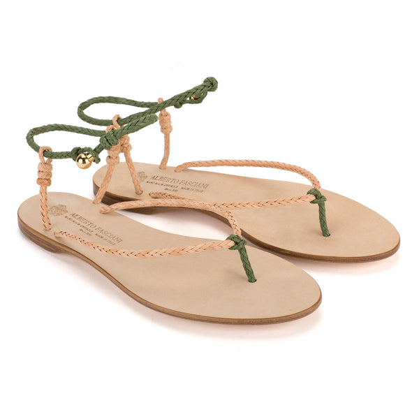 NICOLE 37047<br>Beige & green sandals