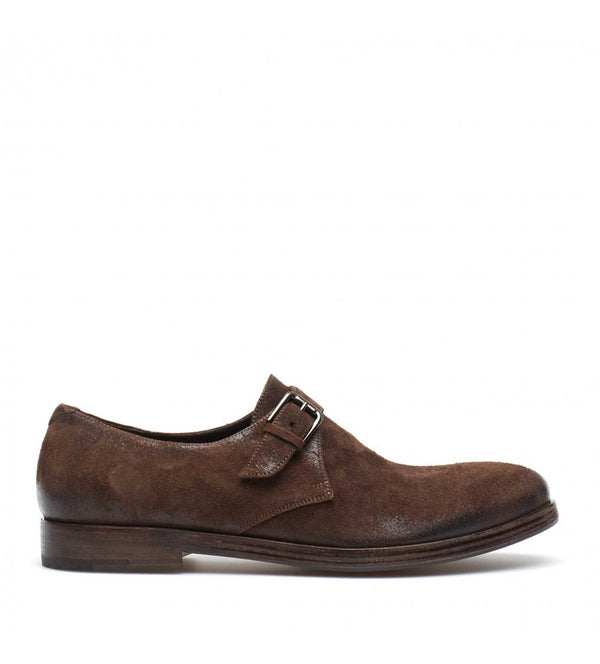 QUINCY 34024, Suede leather monkstrap, vista 1