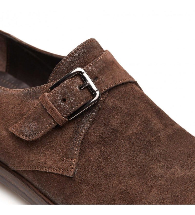 QUINCY 34024, Suede leather monkstrap, vista 2