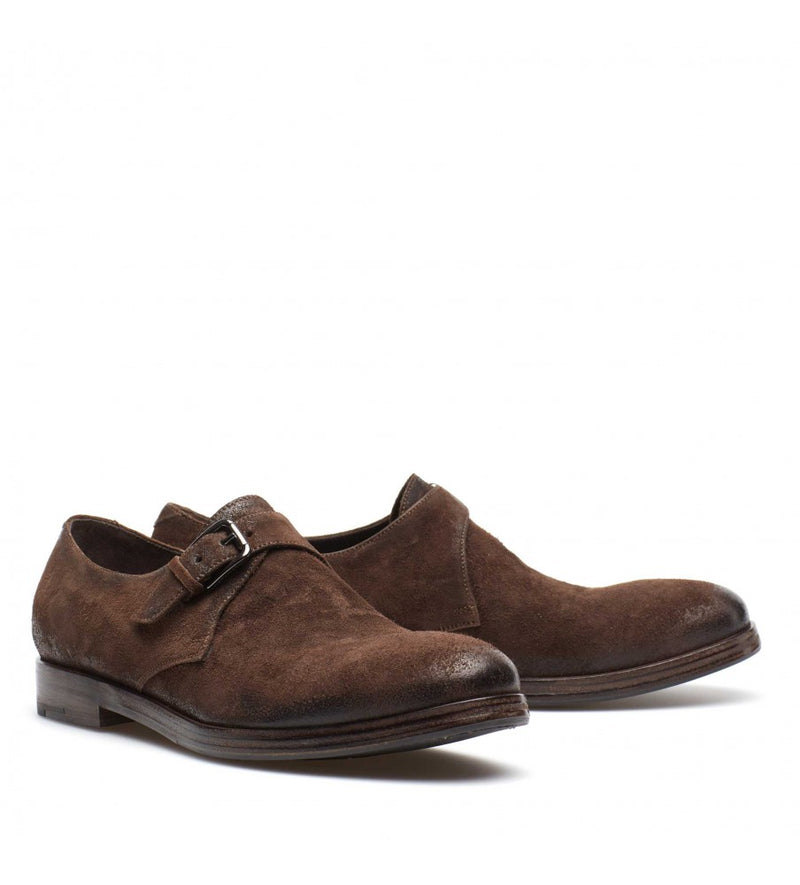 QUINCY 34024, Suede leather monkstrap, vista 3