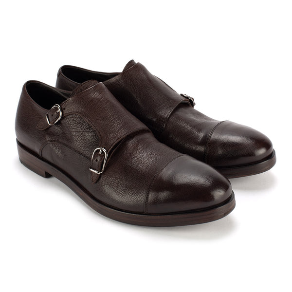 QUINCY 607<br> Brown monkstrap