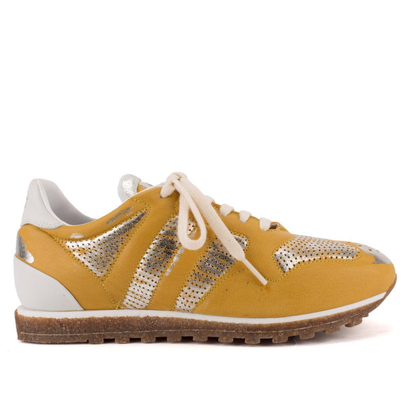 SPORT 6100 <br>Yellow & silver sneakers