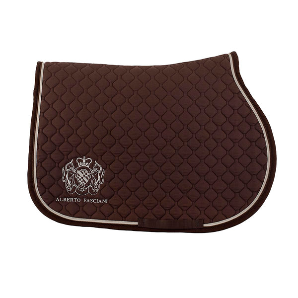 Saddle pad, Brown saddle pads, vista 1