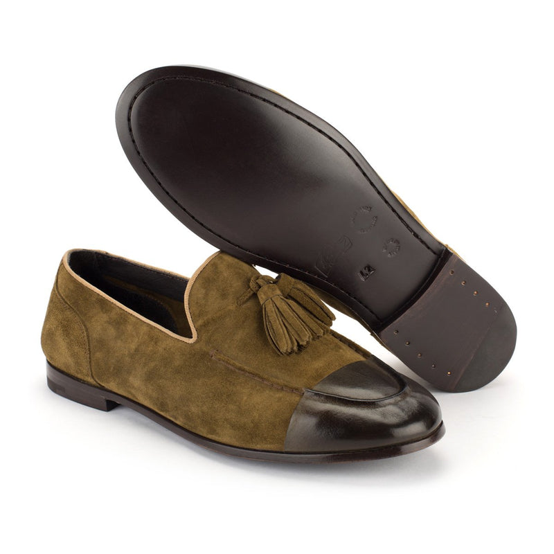 TORRES 204<br>Kaki loafers with tassels