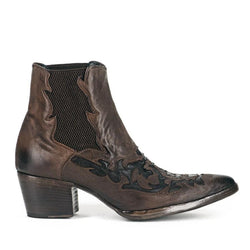 URSULA 46036<br>Dark brown texan inspired ankle boots