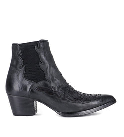 URSULA 46036, Black texan inspired Ankle boots, vista 1
