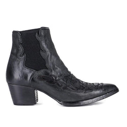 URSULA 46036<br>Black texan inspired ankle boots