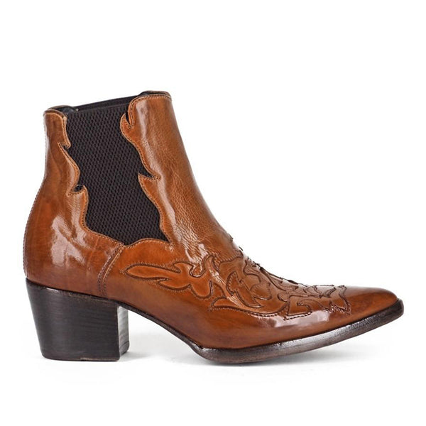 URSULA 46036<br>Brown texan inspired ankle boots