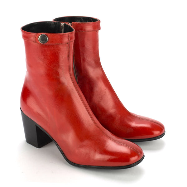 URSULA 46037<br>Red ankle boots