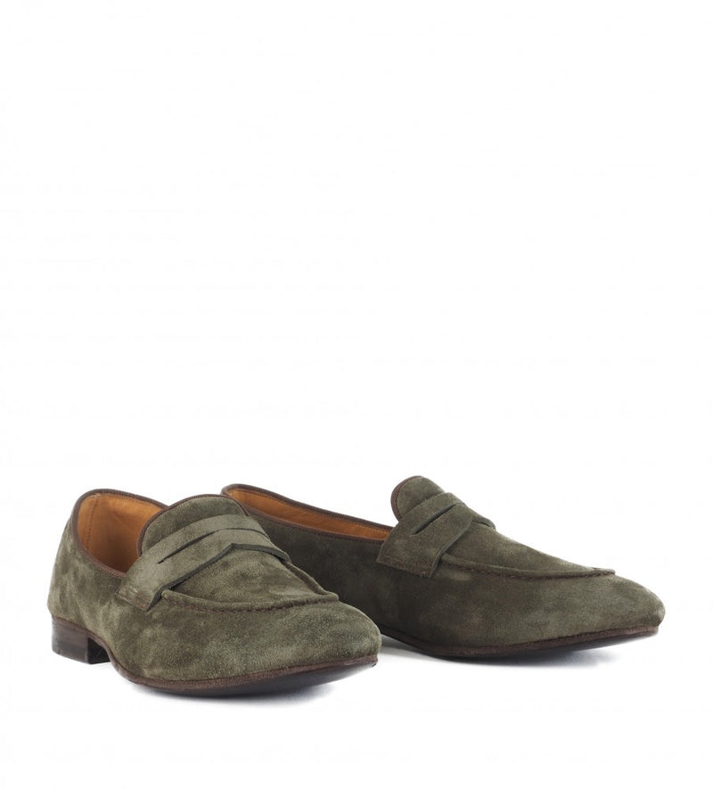 VENERE 48037, Grey suede loafer, vista 2