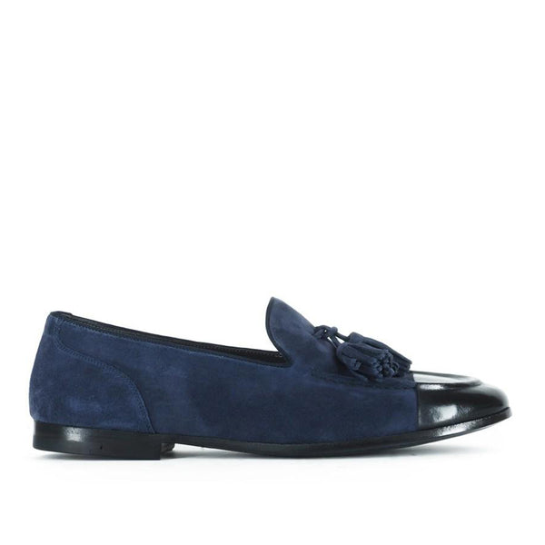 VULCANO 49204<br>Blue loafers with tassels