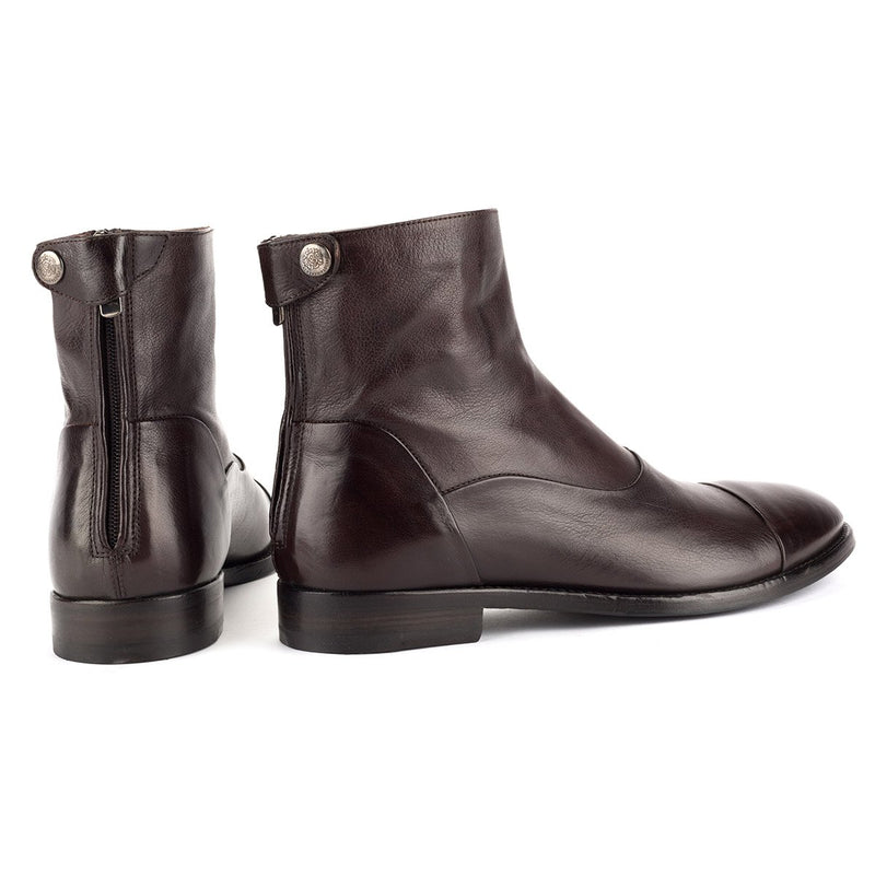 VULCANO 10003<br> Dark brown Ankle Boots
