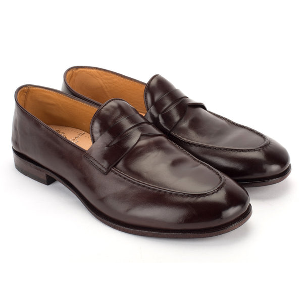 VULCANO 49040, Burgundy loafer, vista 3