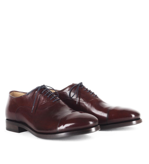 WOLF 47000, BURGUNDY OXFORD SHOES, vista 2