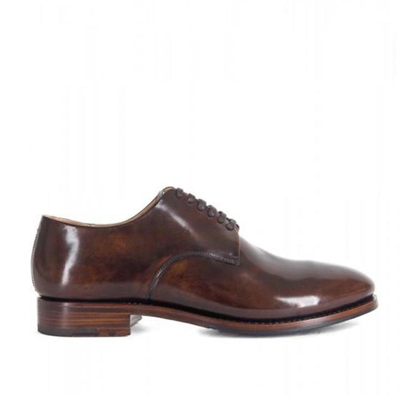 WOLF 13<br>Teak derby shoes in shell cordovan