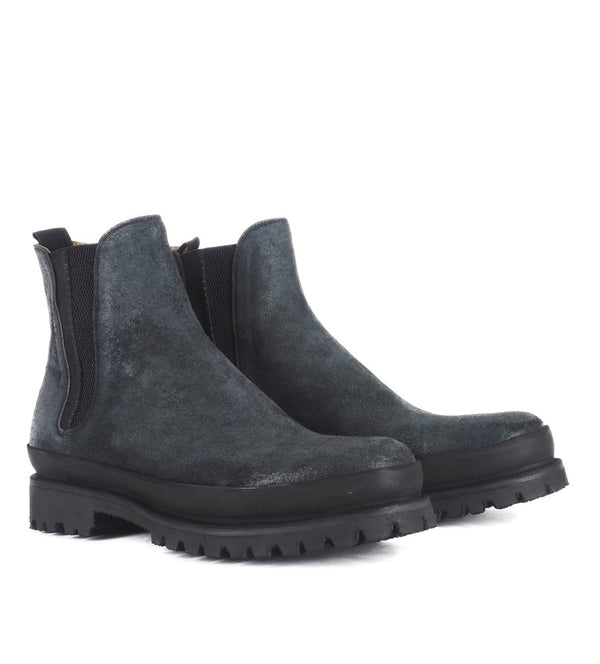 WOLF 42048<br> Reverse calf leather chelsea boots