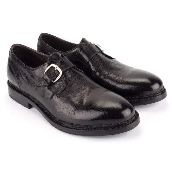 YAGO 55018<br>Black Monk Strap shoes