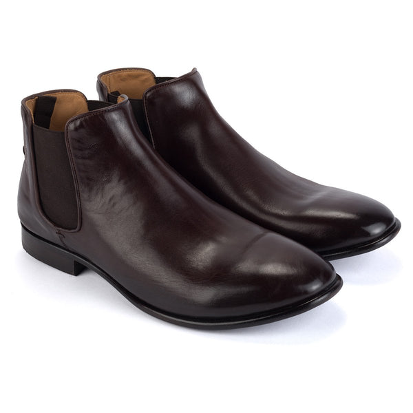 ZEN 57011<br>Dark Brown Chelsea Boots
