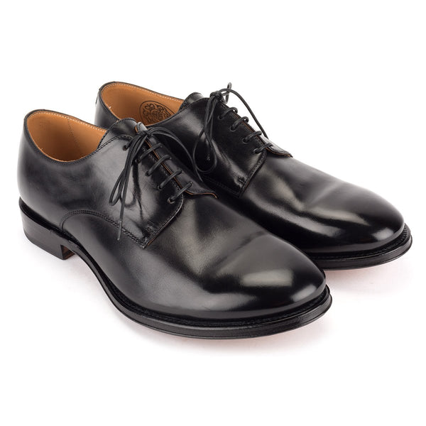 ZEN 57024<br>Black horse leather Derby shoes