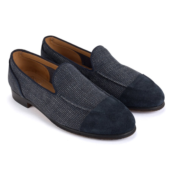 ZOE 56029<br>Navy linen loafers