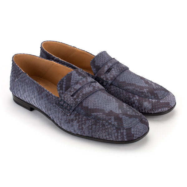 ZOE 56043<br> Blu python embossed  loafers