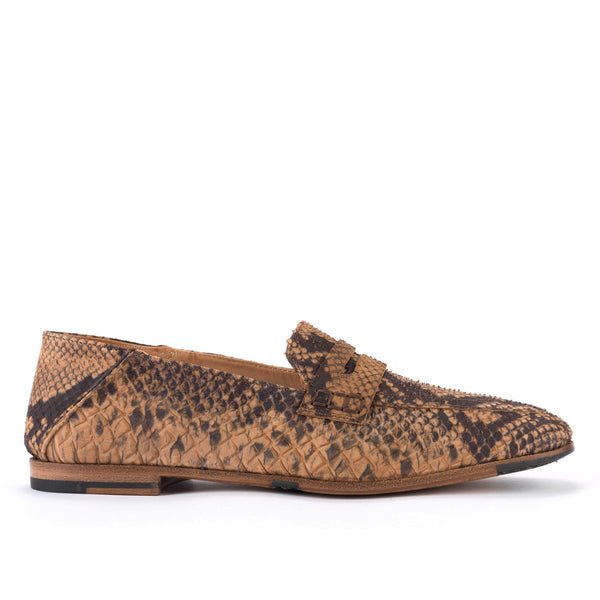 ZOE 56043<br> Taupe python embossed loafers