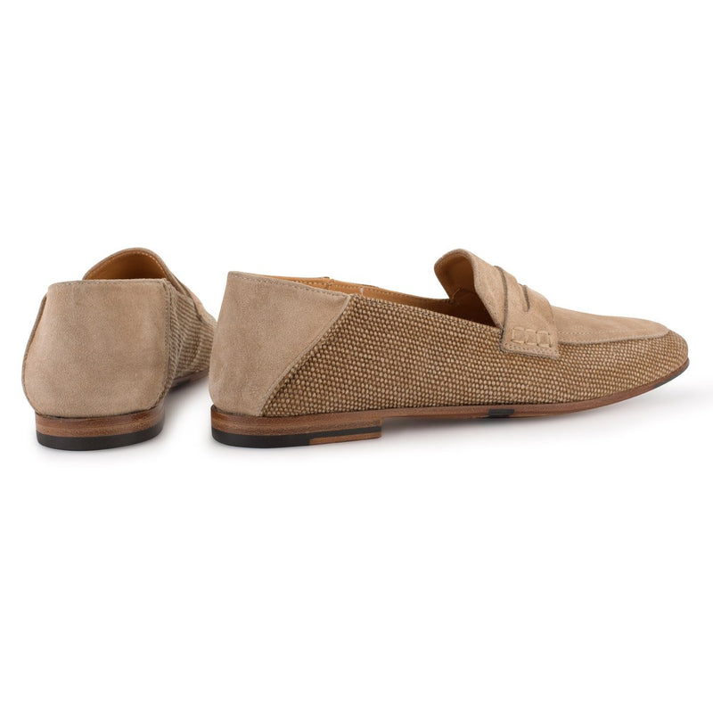 ZOE 56043<br>Linen loafer color sand