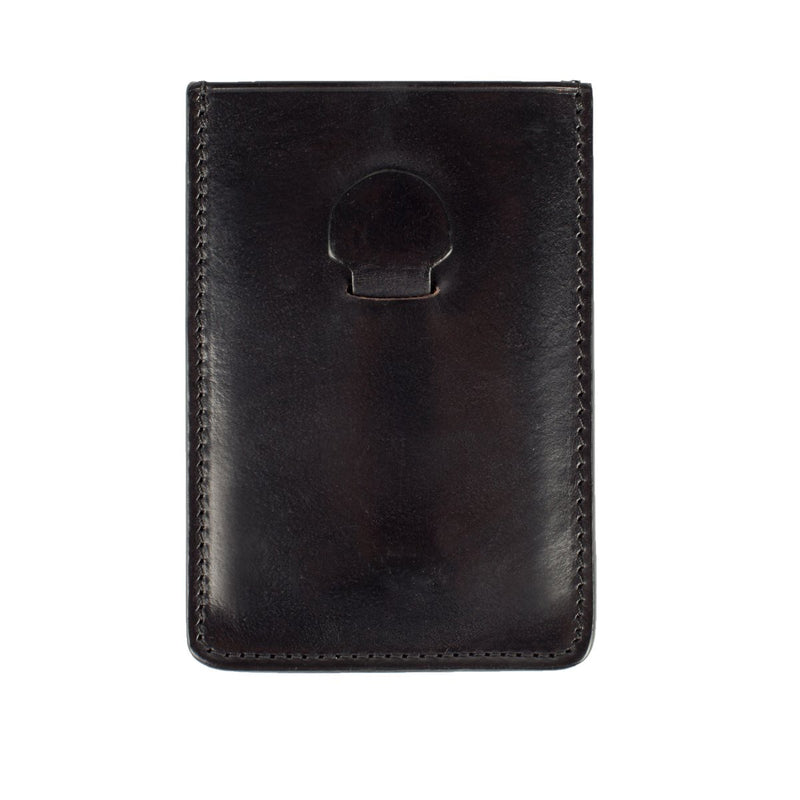 Black Card Holder with Clip
