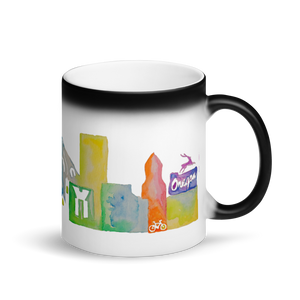 Portland Matte Black Magic Mug