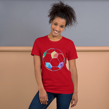 Load image into Gallery viewer, Rainbow Soccer Ball Short-Sleeve Unisex T-Shirt