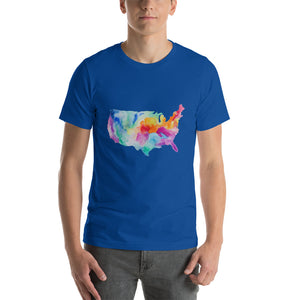 USA Watercolor Short-Sleeve Unisex T-Shirt
