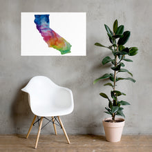 Load image into Gallery viewer, California Watercolor Poster