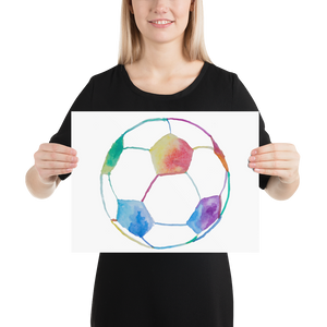 Rainbow Soccer Ball Poster