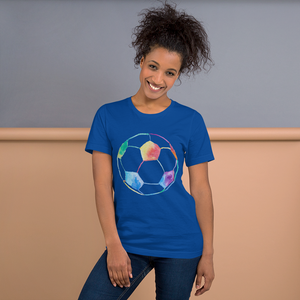 Rainbow Soccer Ball Short-Sleeve Unisex T-Shirt
