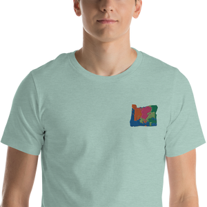 Oregon Multicolor Embroidery t-shirt