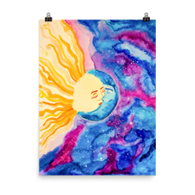 Load image into Gallery viewer, Sun and Moon Kissing Poster