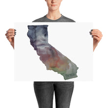 Load image into Gallery viewer, California Muted Color Poster