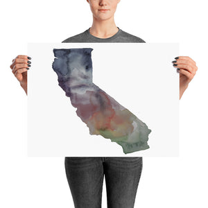California Muted Color Poster