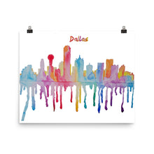 Load image into Gallery viewer, Dallas Texas Watercolor Poster